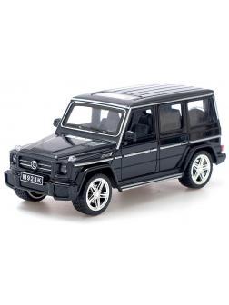 Машинка металлическая XLG 1:24 «Mercedes-Benz G-class» M923K 20 см. инерционная, свет, звук / Черный