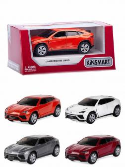 Металлическая машинка Kinsmart 1:38 «Lamborghini Urus» KT5368W,  инерционная в коробке / Микс