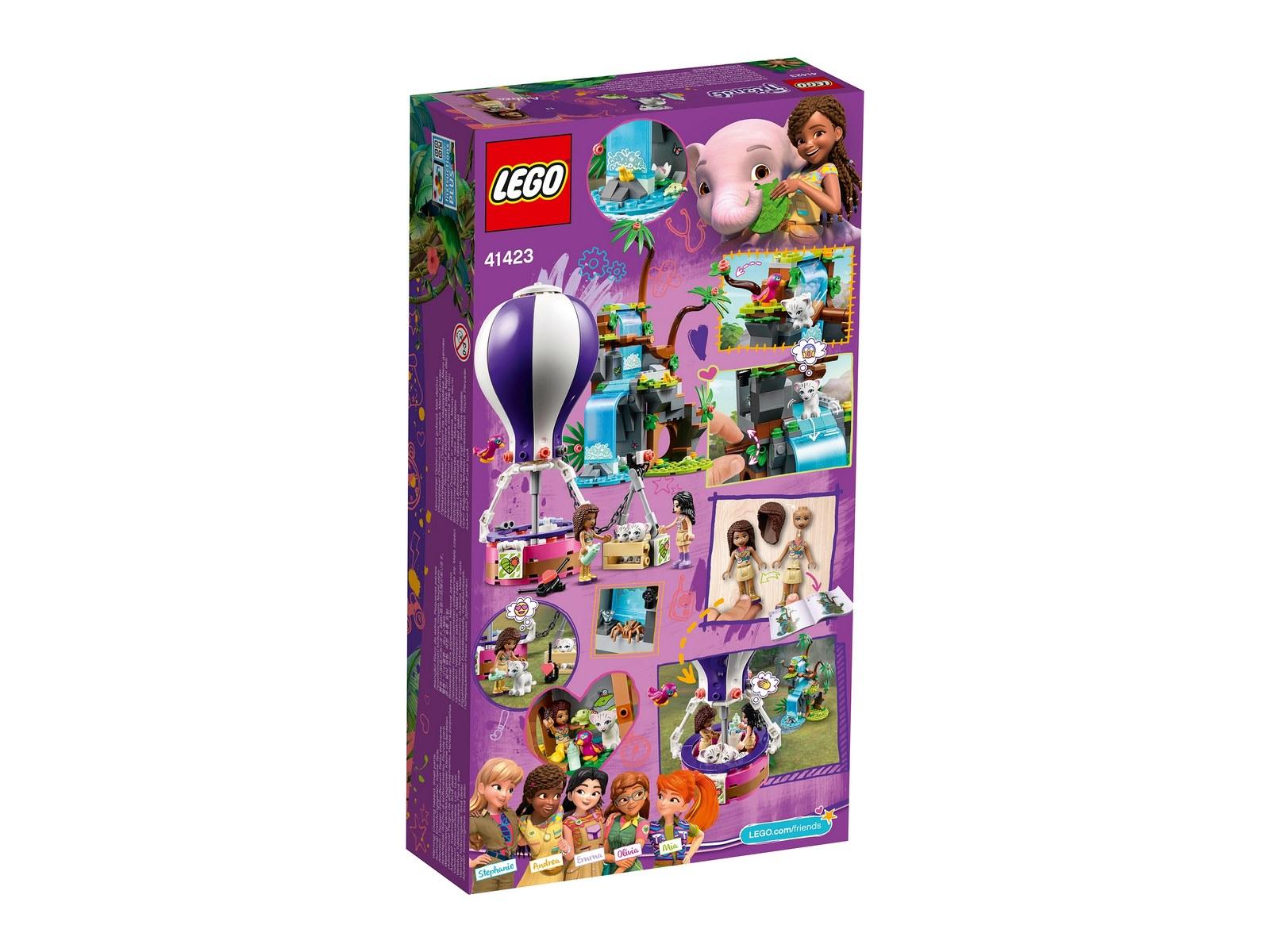 Конструктор LEGO Friends 41423 «Джунгли: спасение тигра на воздушном шаре» / 302 детали
