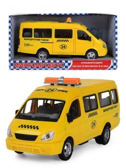 Машинка инерционная Play Smart 1:27 «ГАЗель 3221 Маршрутное такси» 20 см. 9098-E Автопарк, свет и звук