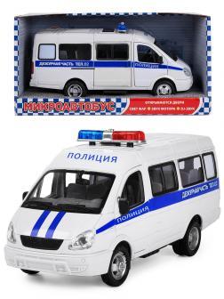 Машинка инерционная Play Smart 1:27 «ГАЗель 3221 Полиция» 20 см. 9098-D Автопарк, свет и звук