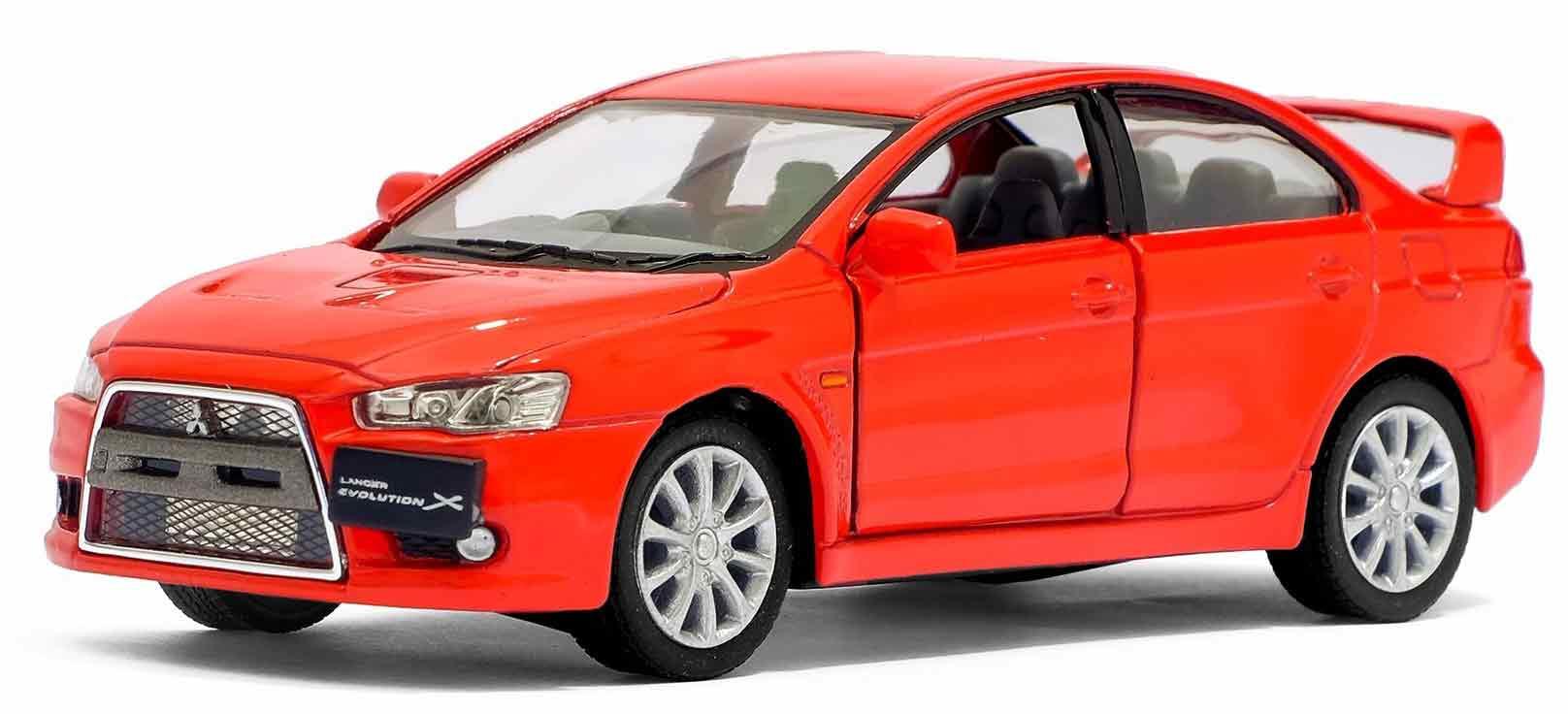 Металлическая машинка Kinsmart 1:36 «2008 Mitsubishi Lancer Evolution X» KT5329D инерционная / Микс