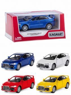 Металлическая машинка Kinsmart 1:36 «2008 Mitsubishi Lancer Evolution X» KT5329W инерционная в коробке / Микс