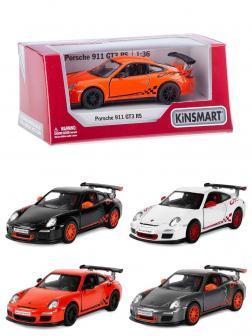 Металлическая машинка Kinsmart 1:36 «2010 Porsche 911 GT3 RS» KT5352W, инерционная в коробке / Микс