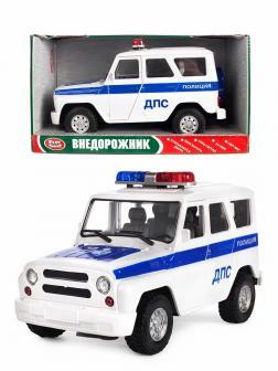 Машинка инерционная Play Smart 1:24 «УАЗ Hunter Полиция ДПС» 9076-D Автопарк, свет и звук