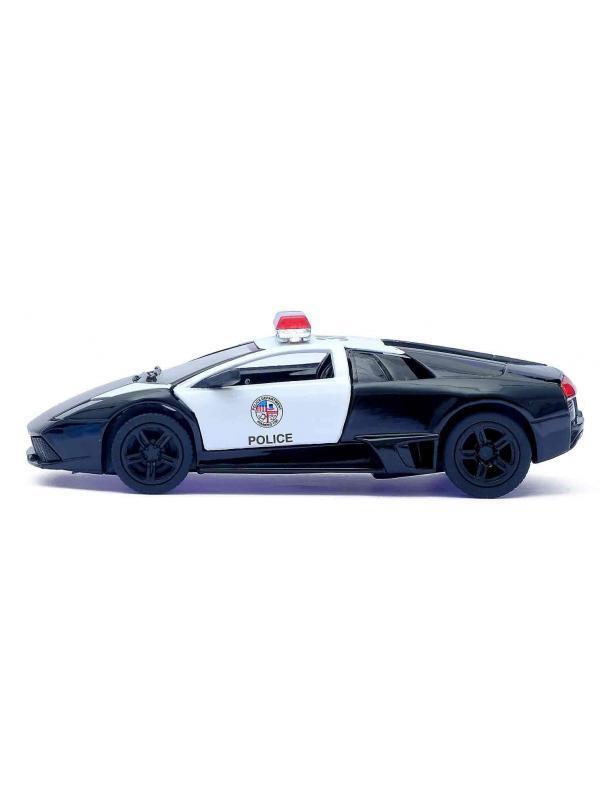 Машинка металлическая Kinsmart 1:36 «Lamborghini Murcielago LP640 (Police)» KT5317DP инерционная