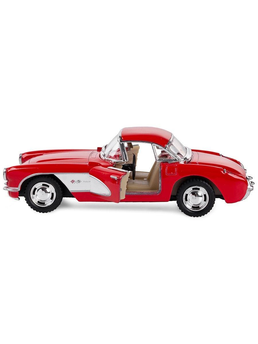 Машинка металлическая Kinsmart 1:34 «1957 Chevrolet Corvette» KT5316W инерционная в коробке / Микс
