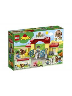 Конструктор LEGO Duplo Town «Конюшня для лошади и пони» 10951 / 65 деталей