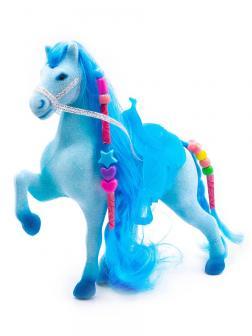 Кукольная фигурка Лошадка Принцессы 17 см. / Голубая