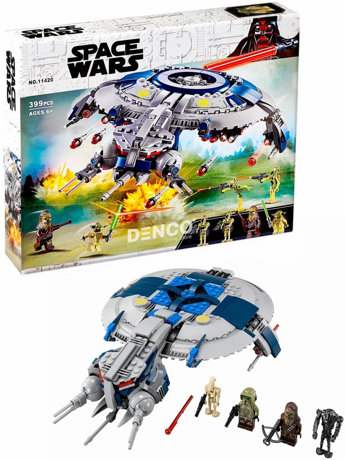 Конструктор Lari «Боевой корабль дроидов» 11420 (Star Wars 75233) / 399 деталей