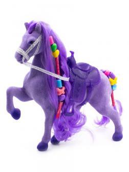 Кукольная фигурка Лошадка Принцессы 17 см. / Фиолетовая