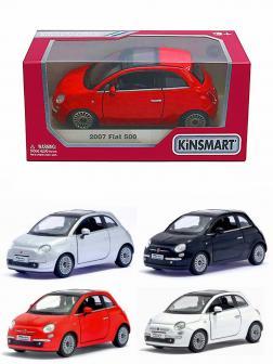 Металлическая машинка Kinsmart 1:28 «2007 Fiat 500» KT5345W, инерционная в коробке / Микс