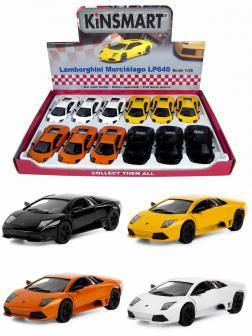 Машинка металлическая Kinsmart 1:36 «Lamborghini Murcielago LP640» KT5317D инерционная / Микс