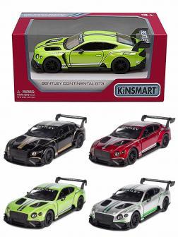 Металлическая машинка Kinsmart 1:38 «Bentley Continental GT3» KT5417W, инерционная в коробке / Микс