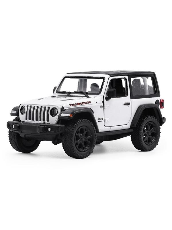 Металлическая машинка Kinsmart 1:34 «2018 Jeep Wrangler (Жесткий верх, Монохром)» KT5412DK, инерционный / Микс