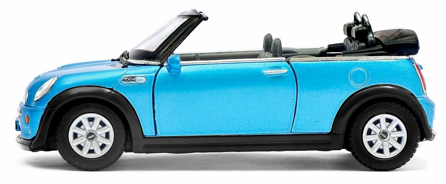 Металлическая машинка Kinsmart 1:28 «Mini Cooper S Convertible» KT5089D инерционная / Микс