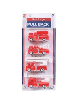 Игровой набор ABtoys Машинки пожарные 4шт инерционные