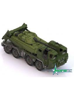 Тягач военный Щит с танком 56х21х21,5 см.