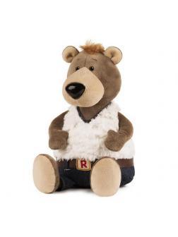 Мягкая игрушка Maxitoys ДуRашки Медведь в Джинсах 26 см