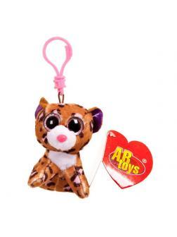 Леопард коричневый, на брелке 8см