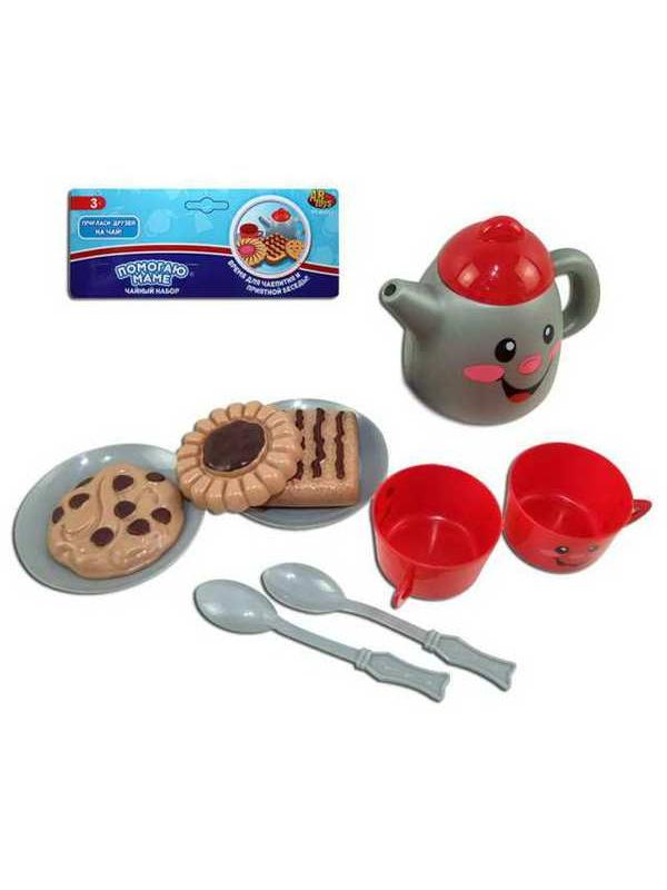 Игровой набор ABtoys Помогаю Маме Посуда для чаепития, 10 предметов, в пакете