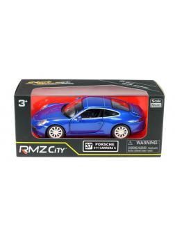 Машинка металлическая Uni-Fortune RMZ City 1:32 Porsche 911 Carrera S, инерционная, цвет синий металлик