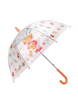 Зонт детский Лакомка прозрачный, 45 см, полуавтомат