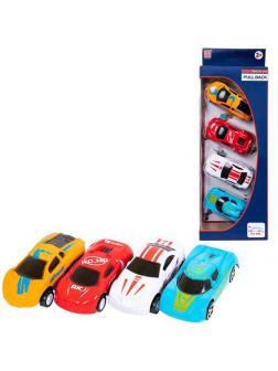 Игровой набор ABtoys Машинки гоночные 4шт инерционные