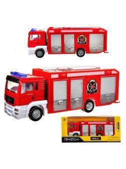 Машинка металлическая Uni-Fortune RMZ City пожарная 1:64 MAN, без механизмов, цвет красный 18.8 x 5.17 x 9 см