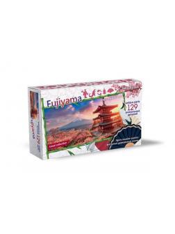 Пазл Нескучные игры Travel Collection гора Фудзияма 129 деталей, фигурный, деревянный