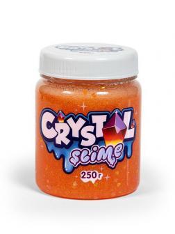 Слайм Slime Crystal апельсиновый, 250г