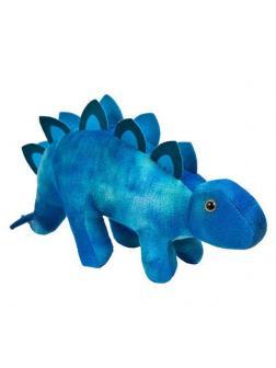 Мягкая игрушка ABtoys Dino World Динозавр Стегозавр синий, 33 см