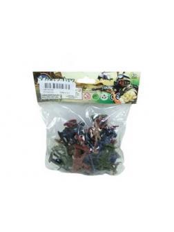 Солдатики Junfa пластмассовые, в пакете, 30 предметов, 14.5x17x3см