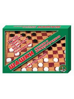 Настольная игра Десятое королевство Шашки/шашки (большие)