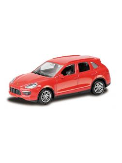 Машинка металлическая Uni-Fortune RMZ City 1:64 Porsche Cayenne Turbo без механизмов, 2 цвета (белый/красный), 7,43х2,96х2,56 см