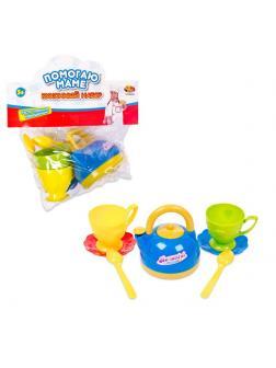 Игровой набор ABtoys Помогаю Маме Посуда для чаепития 7 предметов
