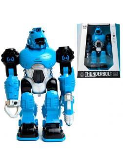 Робот Junfa THUNDERBOLT (цвет синий), со световыми и звуковыми эффектами , 24х12х30 см