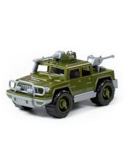 Автомобиль военный пикап Разведчик с 2-мя пулемётами