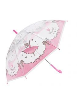 Зонт детский Mary Poppins Принцесса прозрачный, полуавтомат 48см