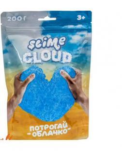 Слайм Slime Cloud Потрогай облачко Голубое небо с ароматом тропик, 200 г