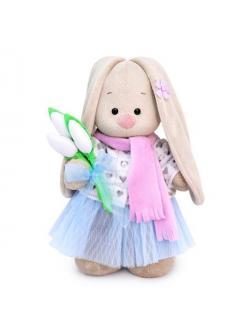 Мягкая игрушка BUDI BASA Зайка Ми с белыми тюльпанами (большой)