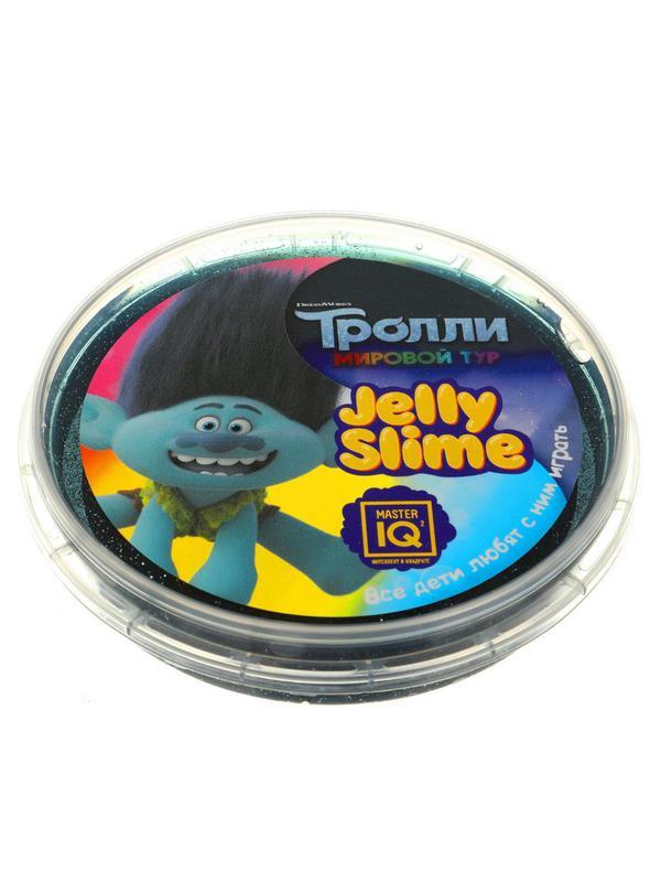 Слайм Master IQ Jelly Slime Тролли фиолетовый , в шайбе, готовый