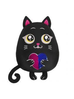 Мягкая игрушка Maxitoys Antistress Подушка Кот с Сердцем, 35 см