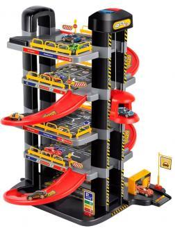 Парковка 5-ти уровневая с автоматическим подъемником, в наборе с машинками и аксессуарами, не менее 49 элементов, P9188A-1, в коробке