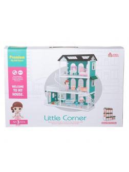 Игровой набор ABtoys Модульный домик (собери сам), 8 секций. Мини-куколки с питомцами в спальне, в ванной комнате, в музыкальной комнате, в наб...