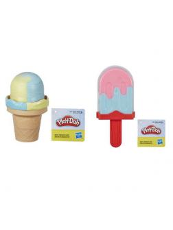 Набор для творчества Hasbro Play-Doh Масса для лепки Мороженое 2 цвета