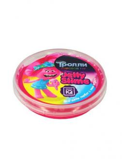 Слайм Master IQ Jelly Slime Тролли розовый, в шайбе, готовый