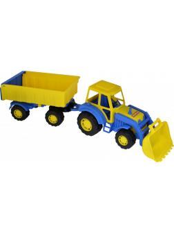 Трактор с прицепом 1 и ковшом Алтай 63х16,8х18 см.