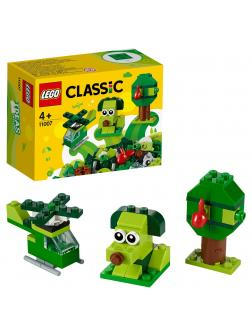 Конструктор LEGO Classic «Зелёный набор для конструирования» 11007 / 60 деталей
