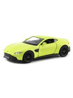 Машинка металлическая Uni-Fortune RMZ City 1:32 Aston Martin Vantage 2018 (цвет желтый)